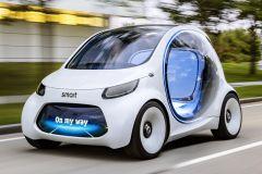 E-Mobil: Carsharing der Zukunft mit autonom fahrenden smart vision EQ fortwo
