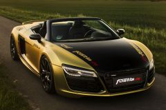 Tuning: Carwrapping-Spezialist Fostla präsentiert Audi R8 V10 Spyder in Gold-Chrom-Matt