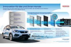 Pressemeldung Honda - Premium-Innenraumfilter verhindert Virenverbreitung