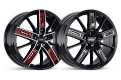Reifen & Felgen: Borbet R67 mit Aero-Style Applikationen in Rot und Anthrazit