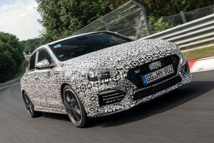News: Hyundai i30 Fastback N Prototyp dreht Testrunden am Nürburgring