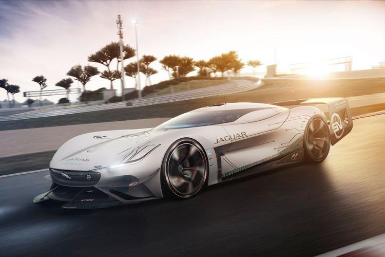 News: Virtueller Elektro-Rennwagen Jaguar Vision Gran Turismo SV