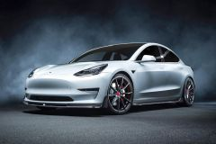Tuning: Vorsteiner Kohlefaser-Karosserie-Kit und Schmiederäder für Tesla Model 3