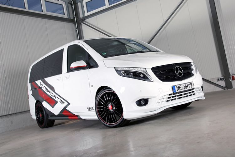 "Tuning: Mercedes Vito 119 Mixto VP Spirit ""white SportsVan"" von Vansports"